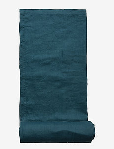 Table Cloth Washed Linen - obrusy - dark petrol