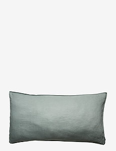 Pillowcase Washed Linen - LILY GREEN