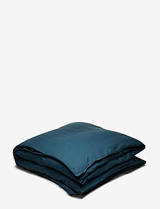 Quilt Cover Washed Linen - DARK PETROL