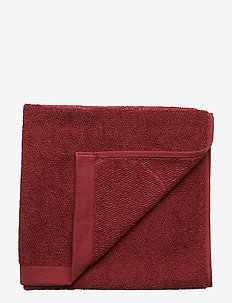 TOWEL COTTON LINEN - håndklæder - port red