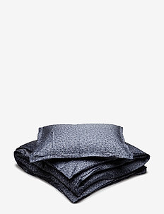 BED SET SATIN LOVIS - bäddset - midnight blue