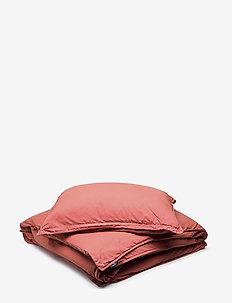 BED SET VINTAGE GOTS - bedding sets - brick red