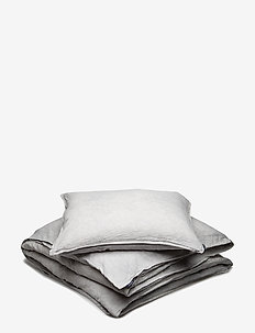 BED SET LINEN BLEND AMMI KING SIZE - bäddset - lunar rock