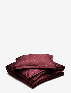 BED SET SATIN LISEN KING SIZE - bäddset - wine