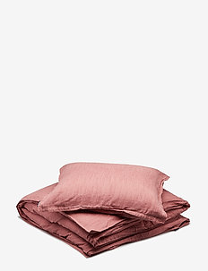 BED SET LINEN LEO - sengesett - ash rose