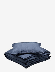 BED SET LINEN LEO - sengesett - blue