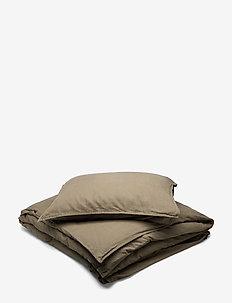 BED SET LINEN BLEND - bedding sets - forest green