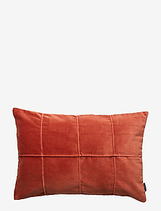 CUSHION COVER HELMER GOTS - puder - brick red