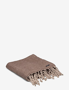 THROW TOBIAS GOTS - blankets - walnut