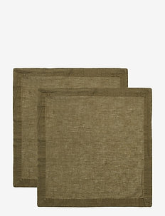 NAPKIN LINEN BLEND - napkins - forest green