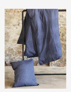 BED SET LINEN LEO K.SIZE - bedding sets - blue
