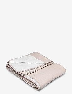 BEDSPREAD LINEN BLEND K.SIZE - blankets - linnen beige