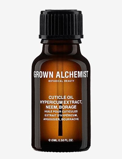 Cuticle Oil: Hypericum Extract, Neem, Borage - kynsienhoito - clear