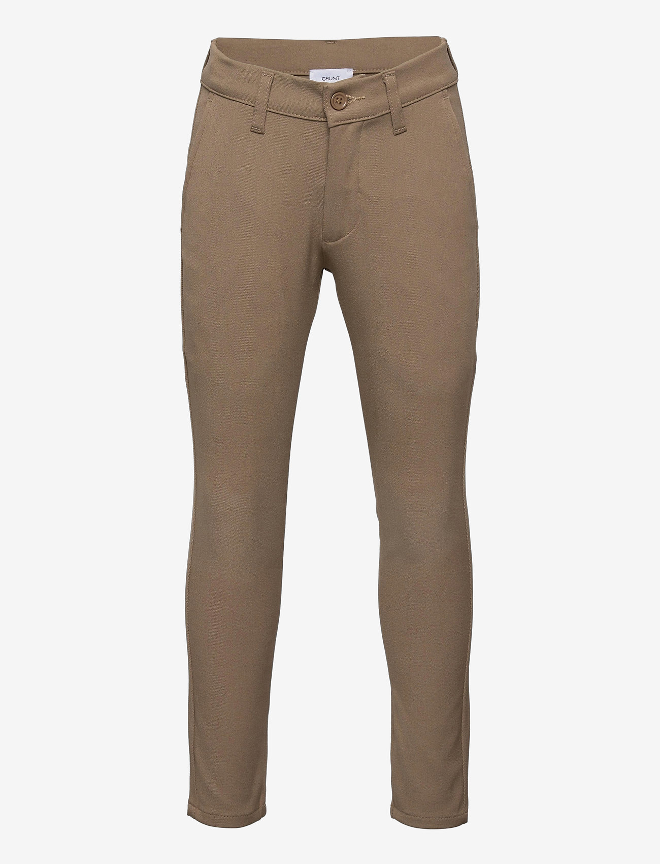 Grunt - Dude Ankle Pant - trousers - beige - 0