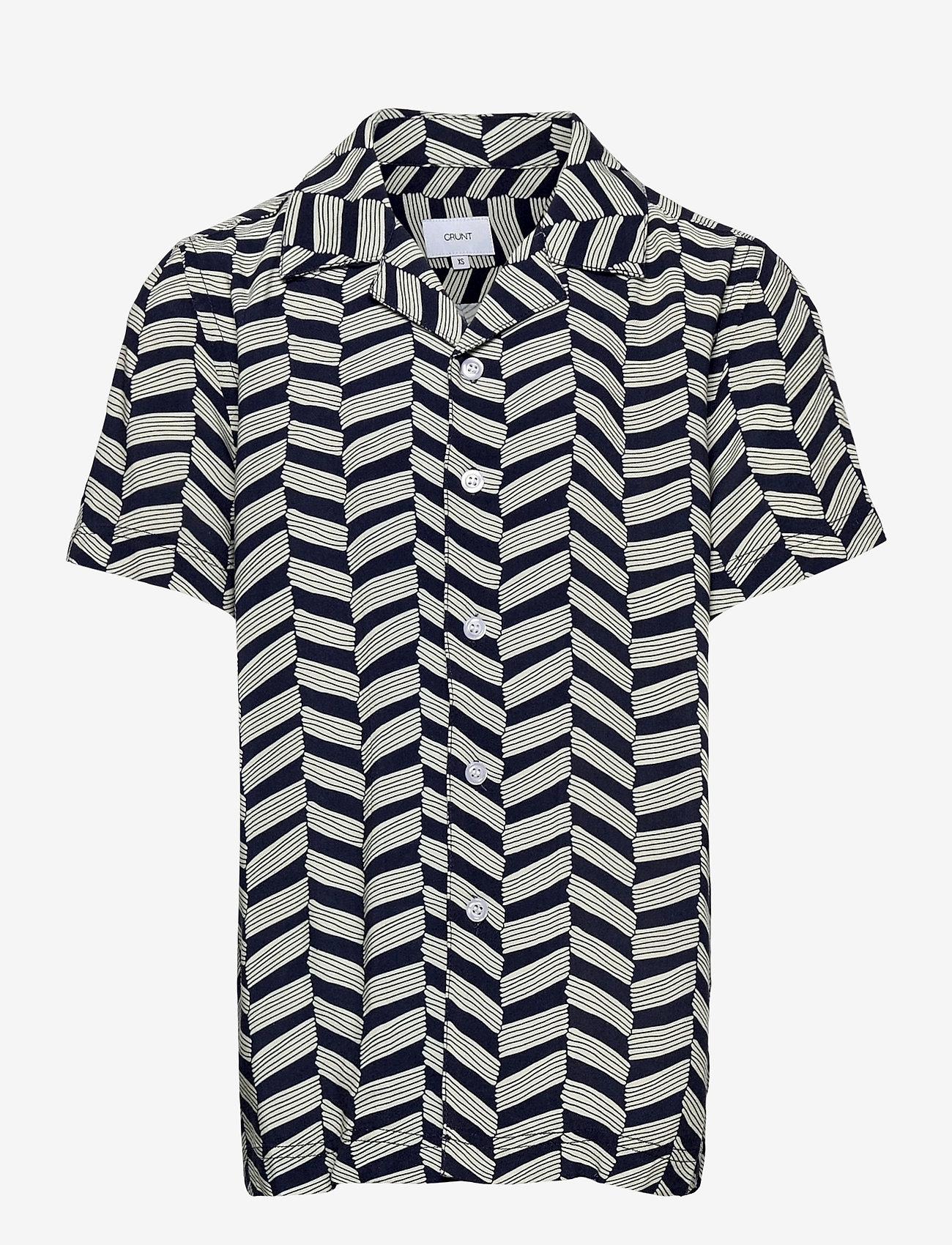 Grunt - Holger Shirt - shirts - wave blue - 0