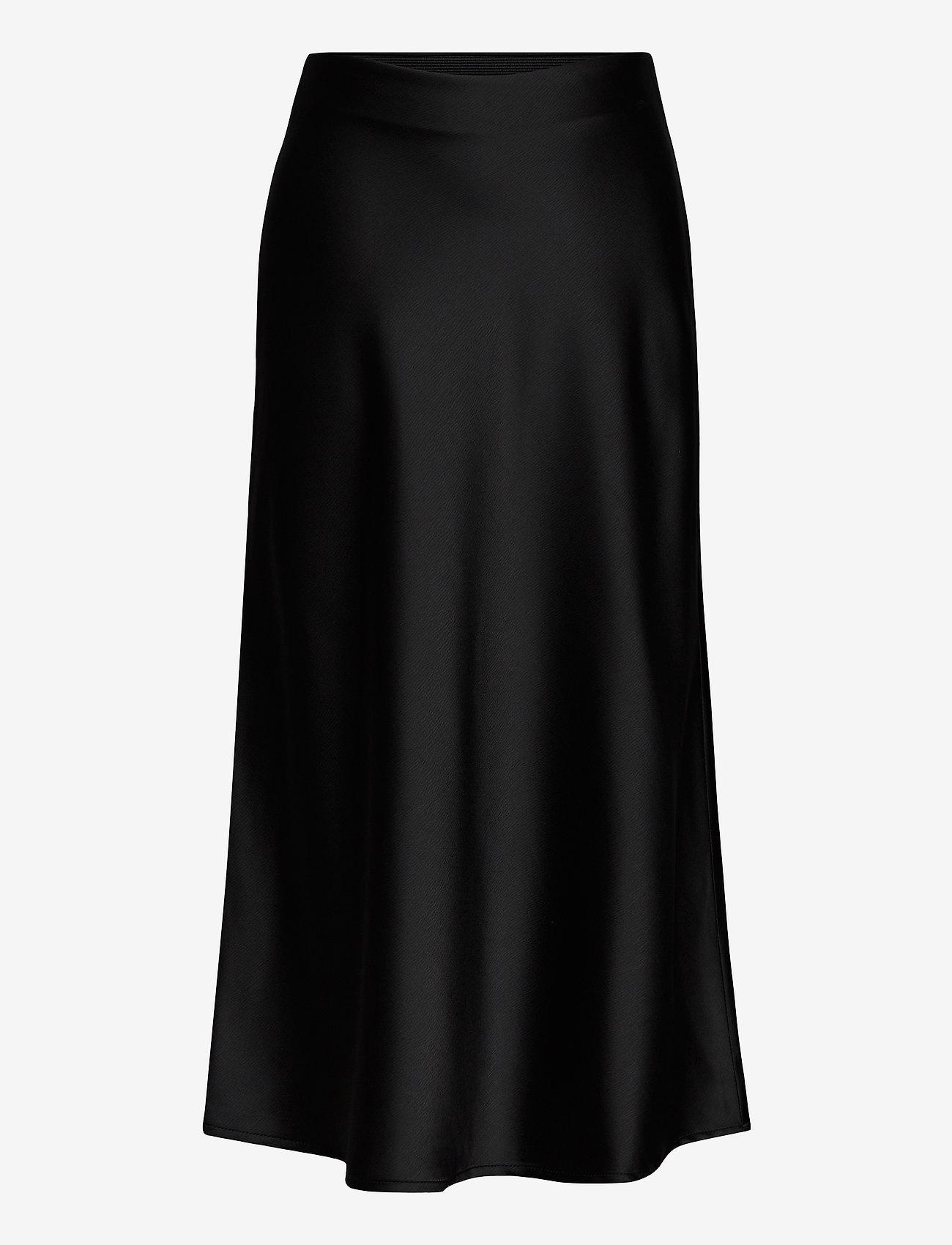 Grunt - Didem Satin Skirt - spódnice - black - 0