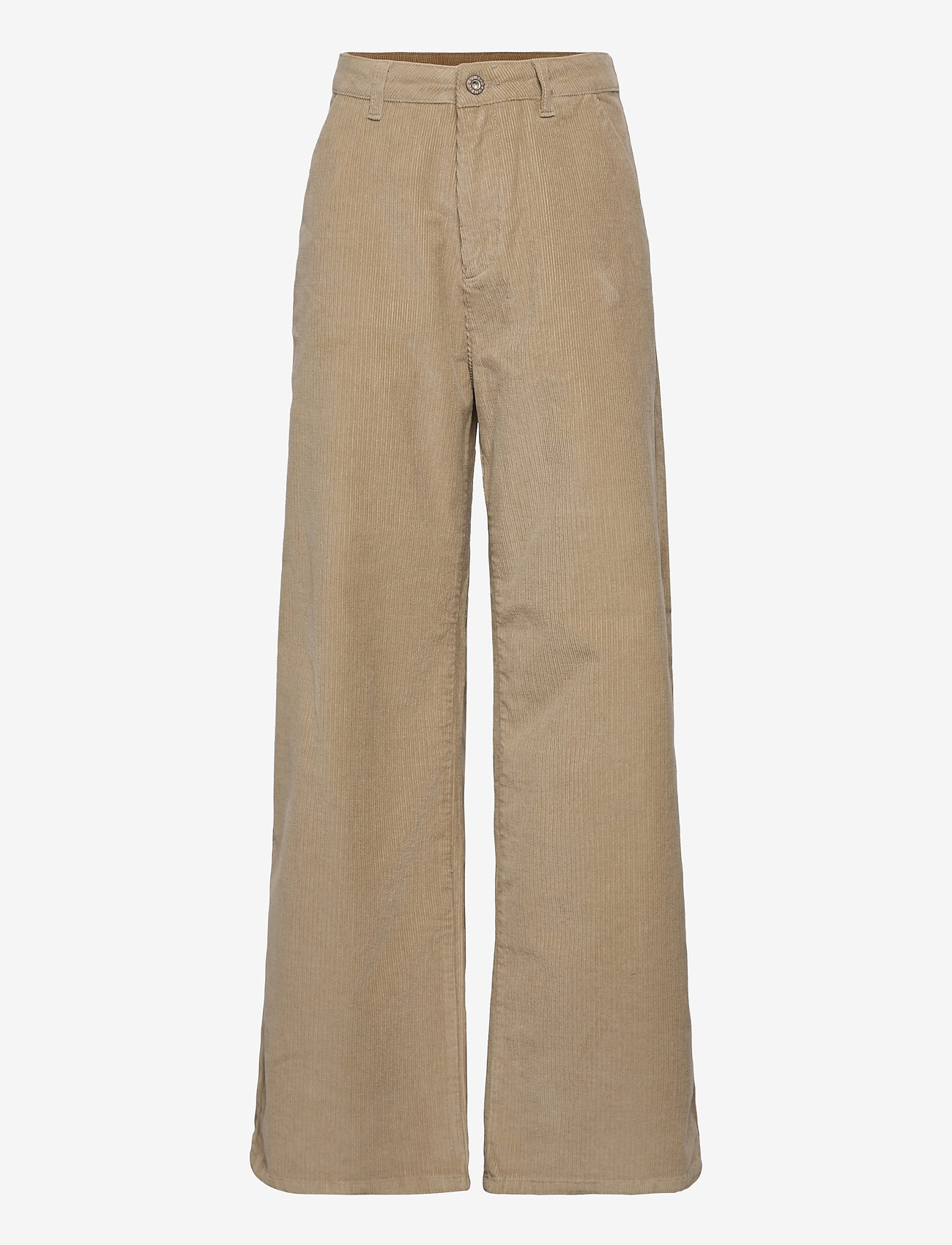 Grunt - Taylor Wide Cord. - trousers - dk. stone - 0