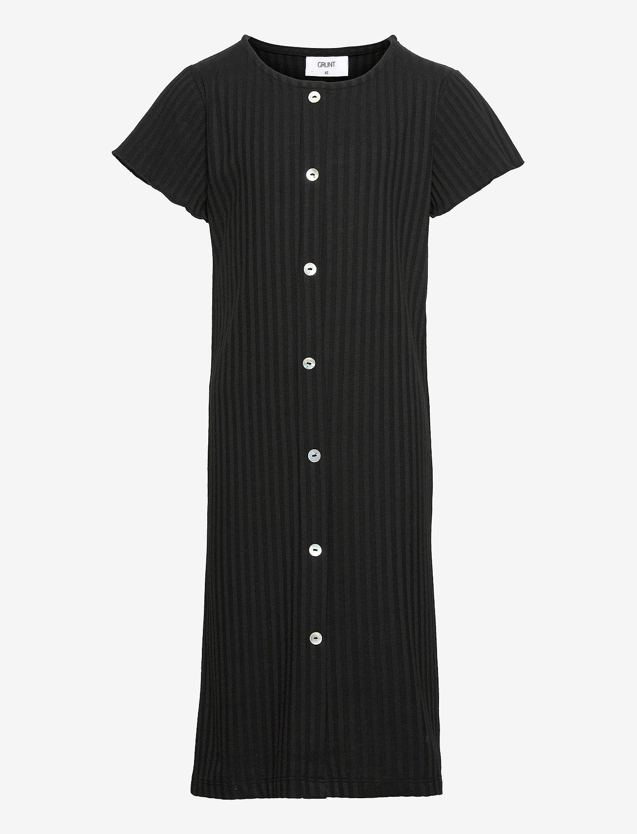 Grunt - Hey Rib Dress - kleider - black - 0