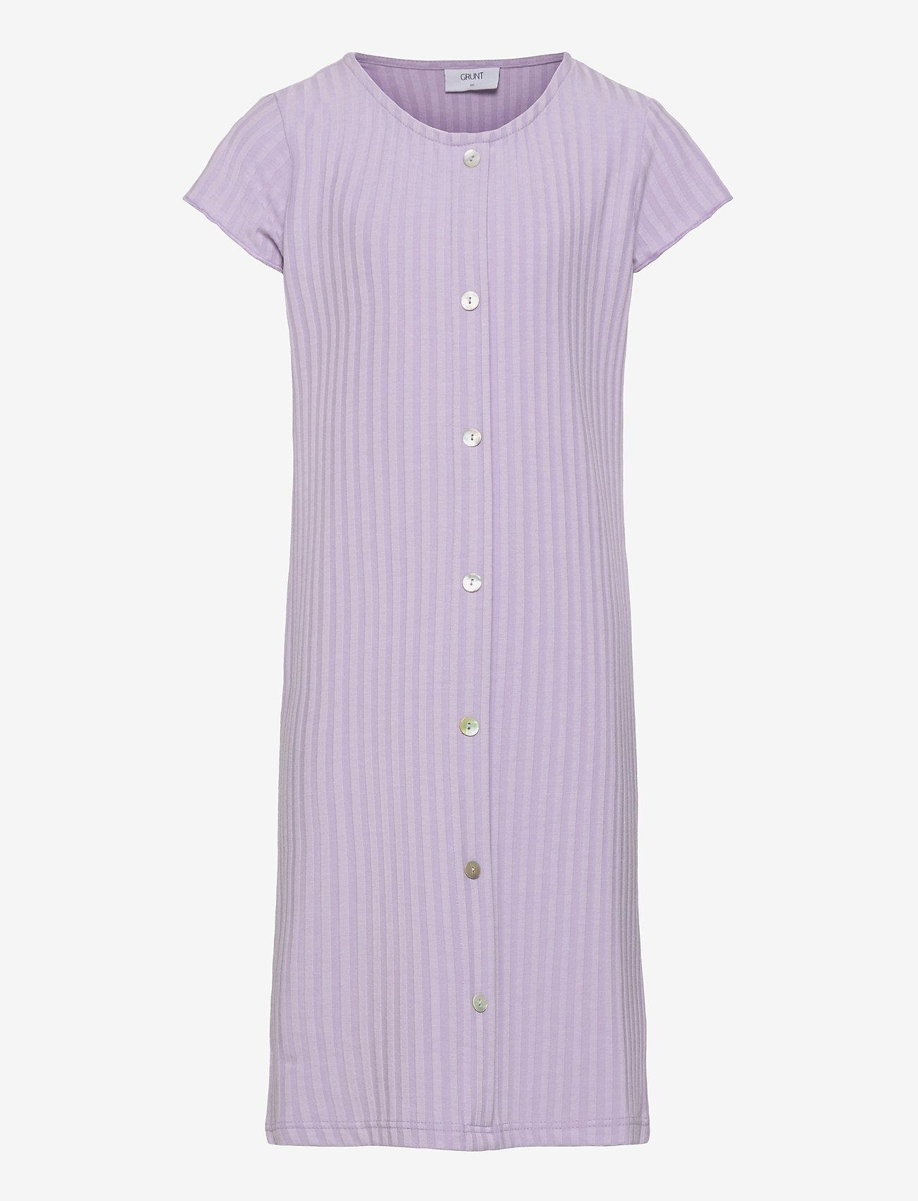 Grunt - Hey Rib Dress - kleider - light purple - 0