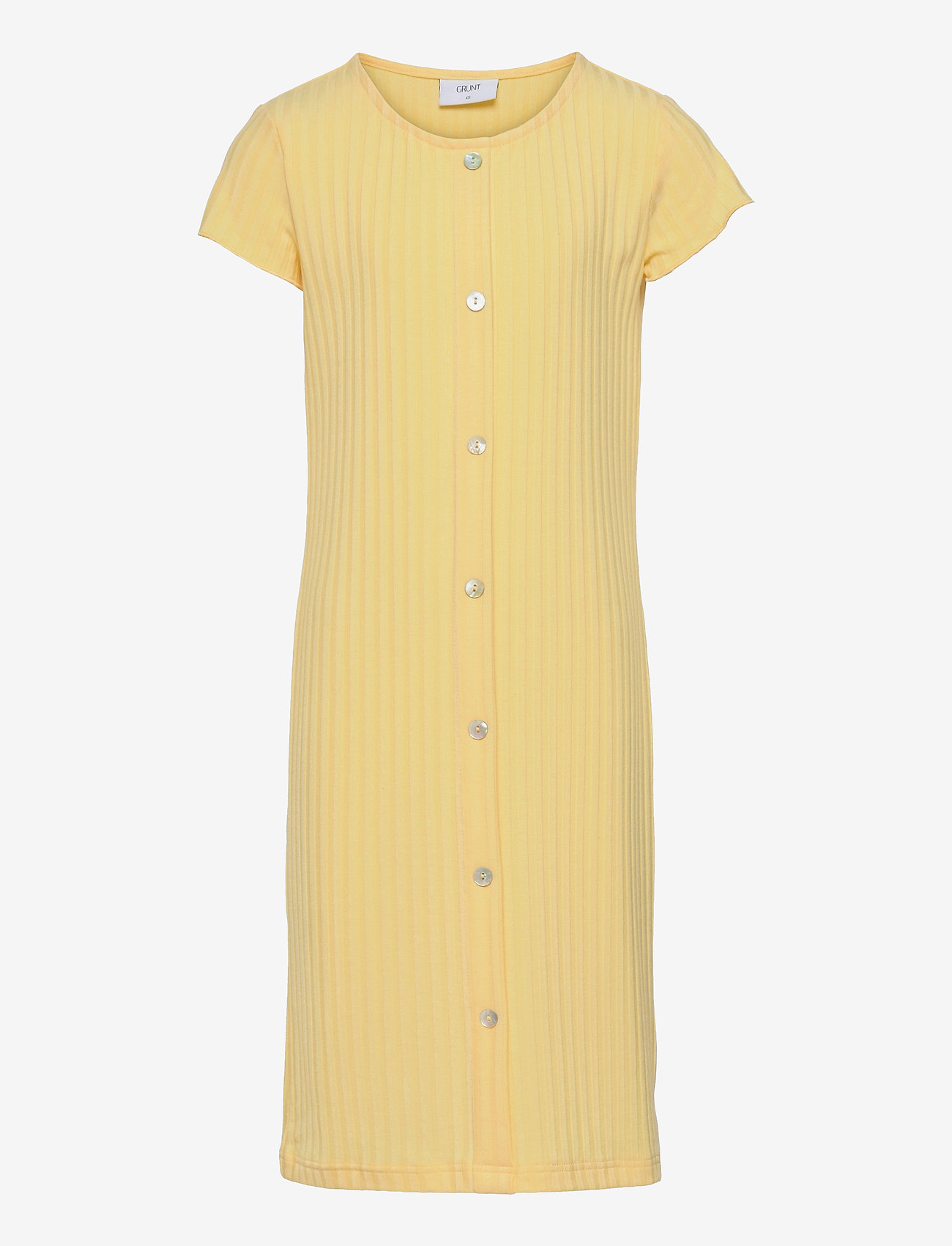 Grunt - Hey Rib Dress - kleider - yellow - 0