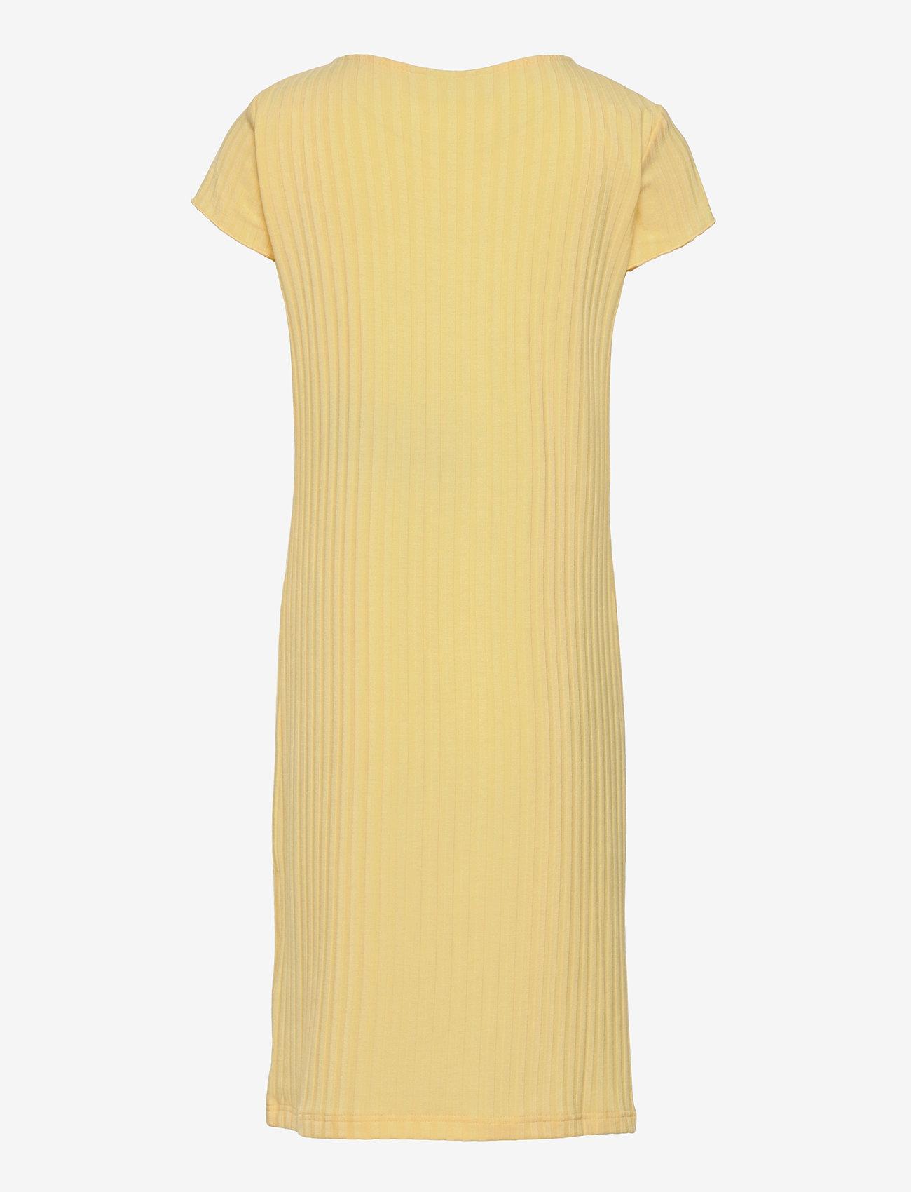 Grunt - Hey Rib Dress - kleider - yellow - 1