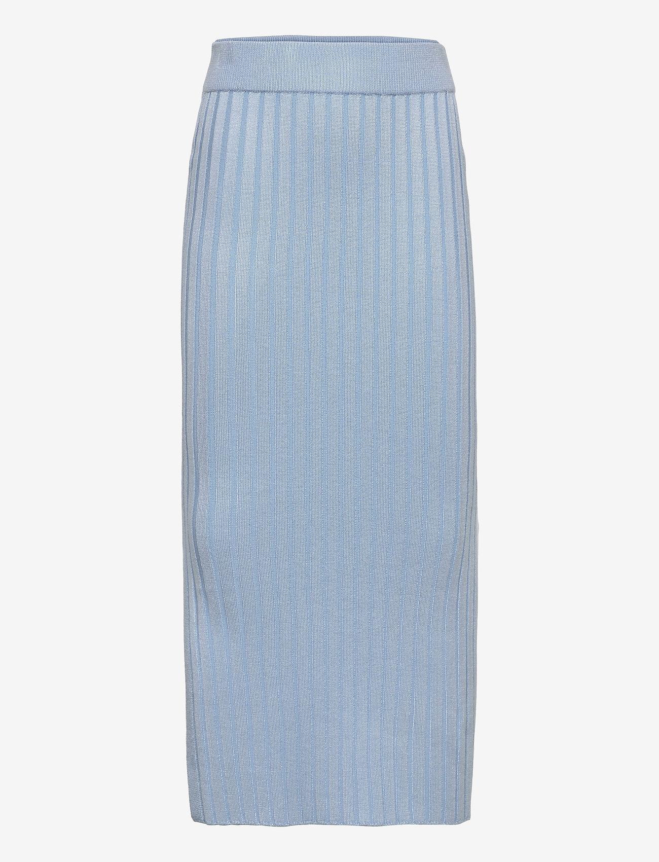 Grunt - Else Knit Skirt - röcke - light blue - 0