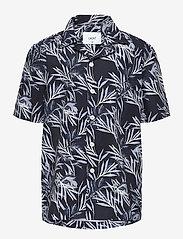 Grunt - Nate S/S Shirt - overhemden - black - 0