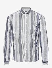 Grunt - Nedim Shirt - overhemden - white stripe - 0