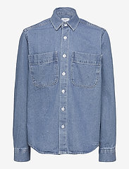 Grunt - Nicki Denim Shirt - overhemden - blue - 0