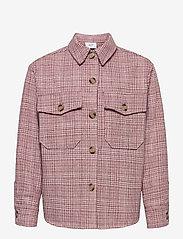 Grunt - Pia Check Overshirt - shirts - pastel red - 0