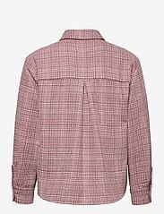 Grunt - Pia Check Overshirt - shirts - pastel red - 1
