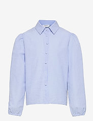 Grunt - Ora Check Shirt - shirts - light blue - 0