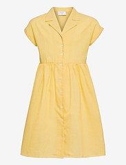 Grunt - Jane Check Dress - kleider - yellow - 0