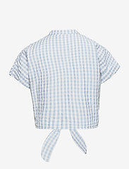 Grunt - Aros Check Shirt - shirts - light blue - 1