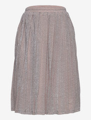 Grunt - Drew Plisse Skirt - röcke - silver - 0