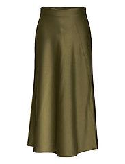 Didem Satin Skirt - LT. FOREST