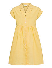 Jane Check Dress - YELLOW