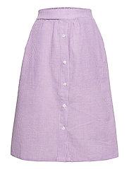 Joan Check Midi Skirt - LIGHT PURPLE