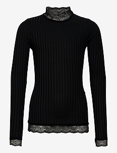 Selina Blouse - blouses & tunieken - black