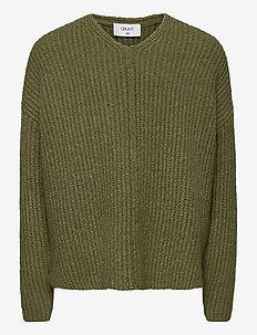 Define V-Neck Knit - knitwear - lt. forrest melange