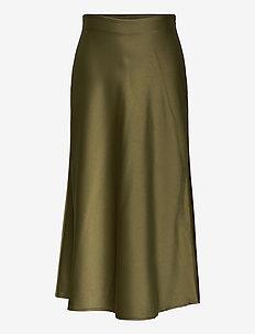 Didem Satin Skirt - spódnice - lt. forest