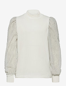 Lilli Blouse - bluzki i tuniki - off white