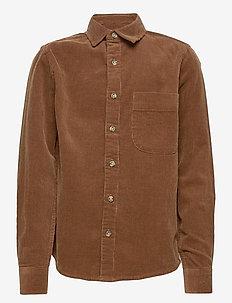 Wim Cord Shirt - shirts - clay brown