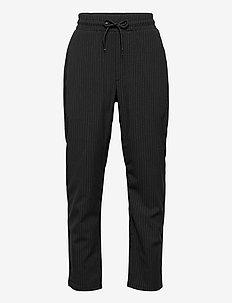 Hack Ankle Stripe - trousers - black