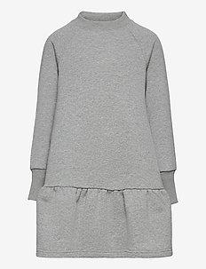 OUR Wicky Sweat Dress - kleider - grey melange