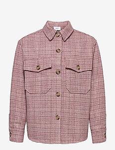 Pia Check Overshirt - shirts - pastel red