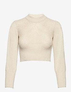 Cikky Puff Knit - knitwear - cream