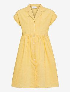 Jane Check Dress - kleider - yellow