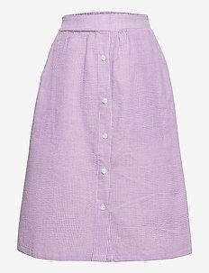 Joan Check Midi Skirt - röcke - light purple