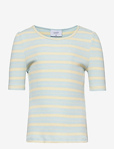 Jonet Stripe Tee - kurzärmelige - light blue